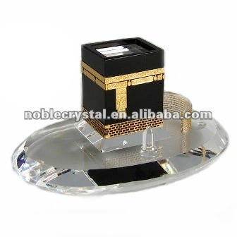 Islamic Kaaba Crystal Building Model Crystal Souvenirs Crystal Gifts With Base