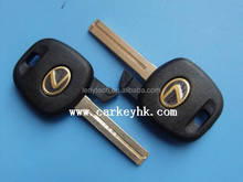 Lexus transponder chip key shell , key blank , key cover case with TOY 48 blade