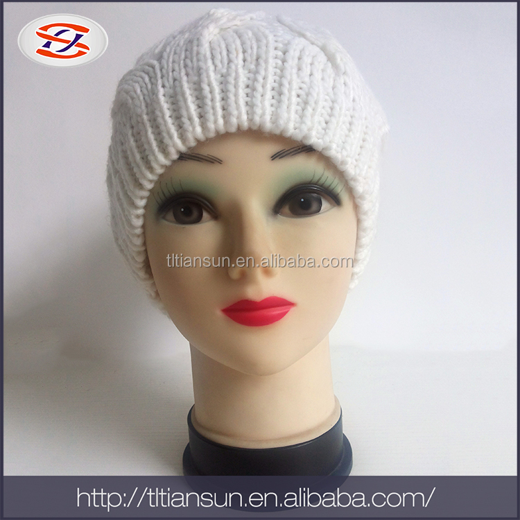 Dress decoration knitted hat acrylic hatw lady dress hat