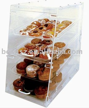 Acrylic Bakery Case,Plexiglass Food Storage Box,Lucite Pastry Display Case