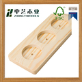 Wood craft FSC handmade cheap natural color pine wooden beer tray board