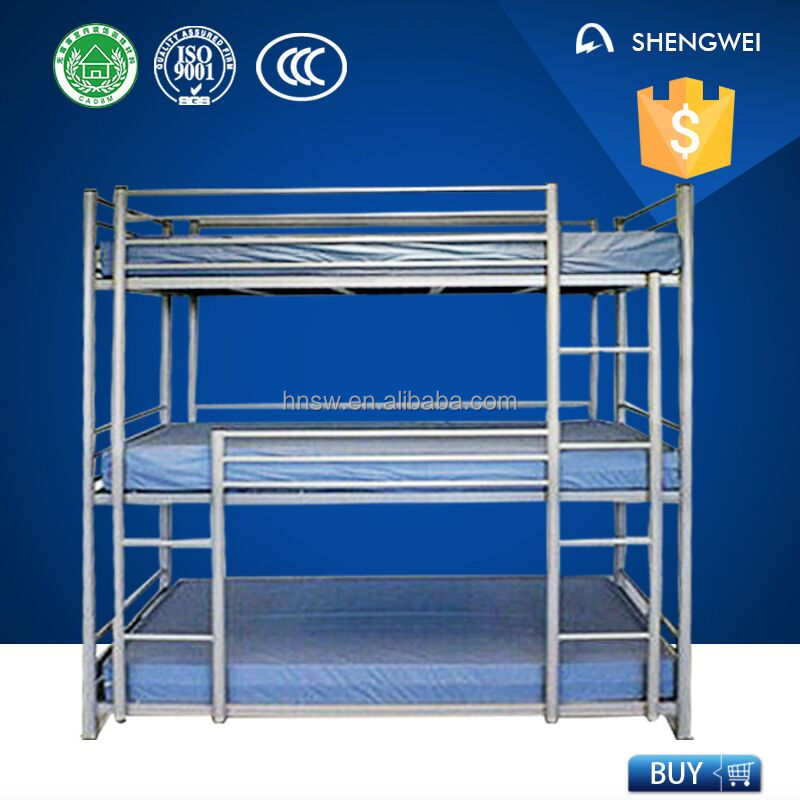 bunk bed 3 layers 3 levels bunk bed metal triple bunk bed