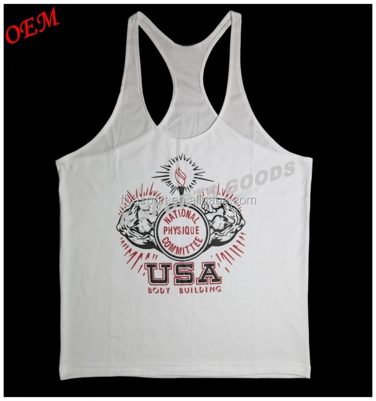 2018 body building wholesale custom mens gym singlet for men