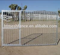 2.3 x 2.3 x 1.22m Dog Kennel Pet Enclosure Run Fence Playpen Outdoor Metal Cage