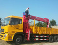 china 10 wheels 6x4 diesel 245hp 12ton telescopic boom truck mounted crane