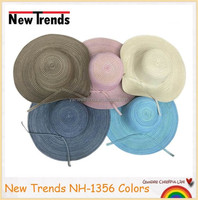 Fashion floppy ombre colors promotion straw hat