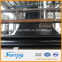 1.5mm smooth and black hdpe geomembrane liner for clay liner