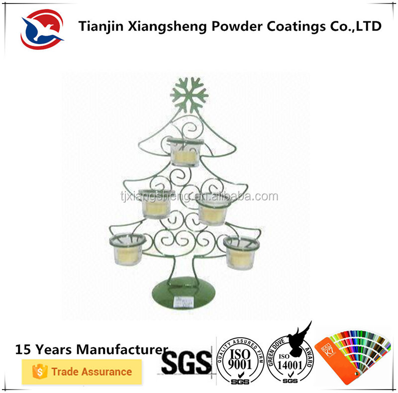 Steel candle holder surface powder coating paint