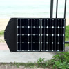 2017 New product high efficiency 60W USB DC output portable and foldable solar panel charger