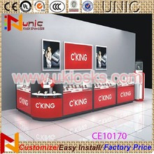 Hot sell glass store mobile phone display showcase, phone kiosk in shopping mall or store