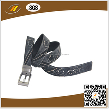 Vintage Design Embossed Process Art Men Leather Waist Belt