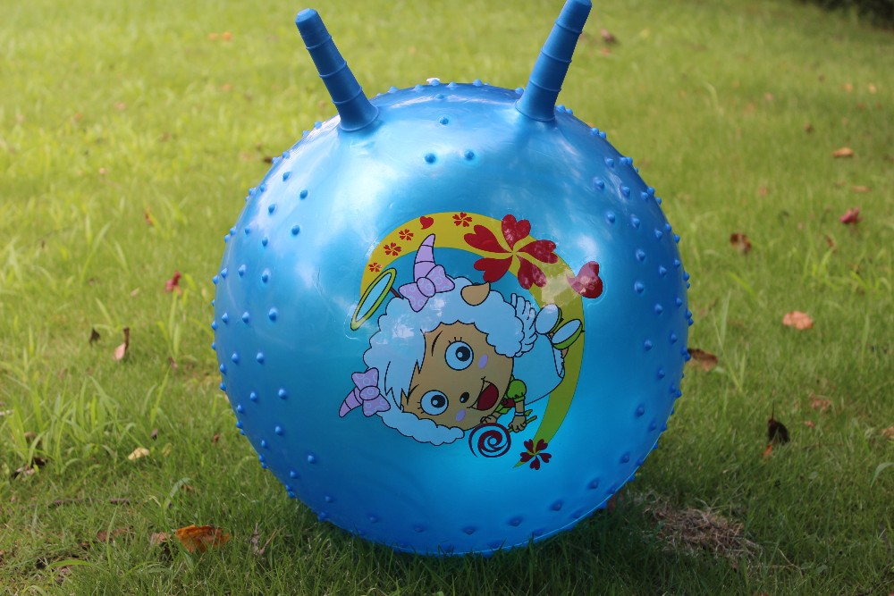 18inch outdoor playground inflatable ball thicken knobby bouncy ball with handle