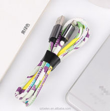 Shenzhen Best Selling Fast Charger Extension Pu Leather Material Usb Cable For Iphone