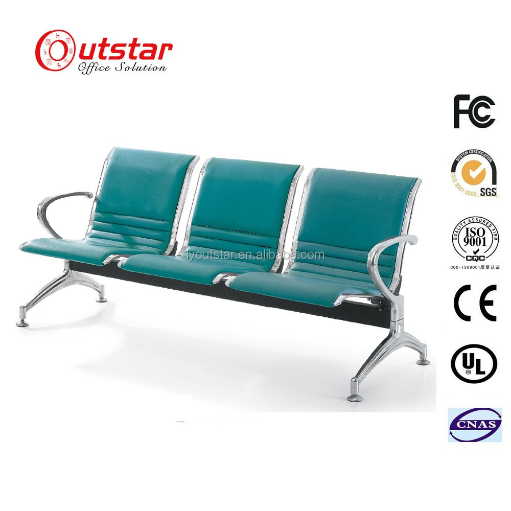 Fascinating And Stronger Metal Waiting Chair For Airport / Public Beam Seatings