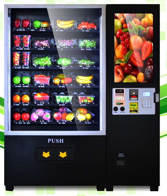 2016 Belt conveyor Fresh fruit&salad/vegetables/lunch box vending machine