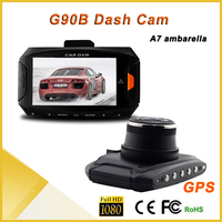 Dashcam mini full hd 1080P 2.7 inch screen dashboard camera with gps, car camera motion sensor
