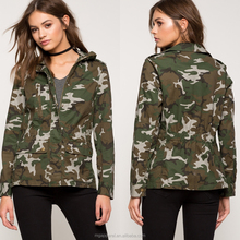 China custom wholesale women spring casual camo jacket
