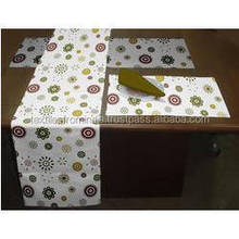 paper roll ethnic table runner