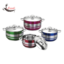 8 PCS german stainless steel kitchenware with various color