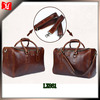 Hot sale and new fashion mens genuine leather duffel bag holdall, waterproof duffel bag High Quality leather weekend bag