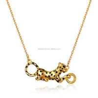 2016 Hot Sale Fashion Silver Gold Leopard Shape Pendant Necklace Wholesale
