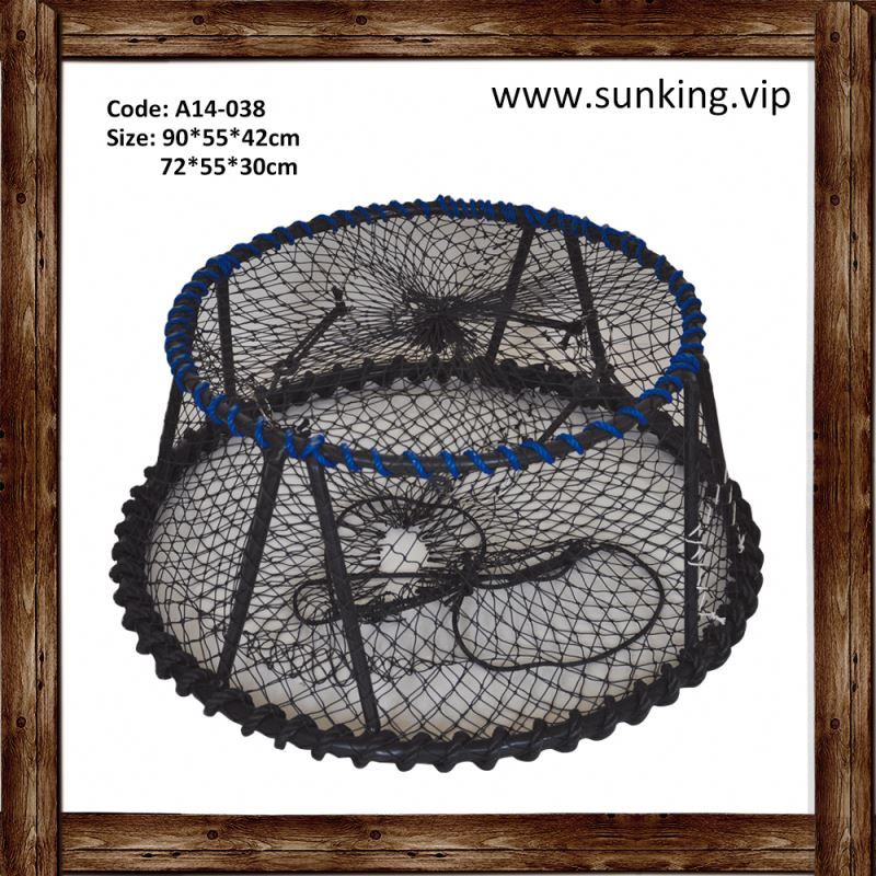 All Sizes customsize nylon braided material crab trap round pe shrimp nets sale nets
