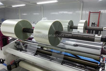 Automatic plastic film roll cutting machine