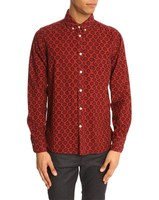 red print flannel funky shirts for men with new design