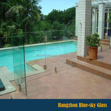 12mm starfire fence glass for swimming pool with CE certificate
