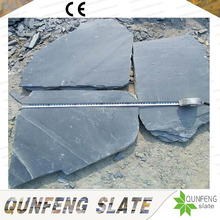 Cheap Natural Black Rock Stone Outdoor Floor Crazy Stone Slate