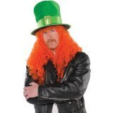 St. Patrick's Day 100th cheapest price wig green and black fake hair wigs for football fans