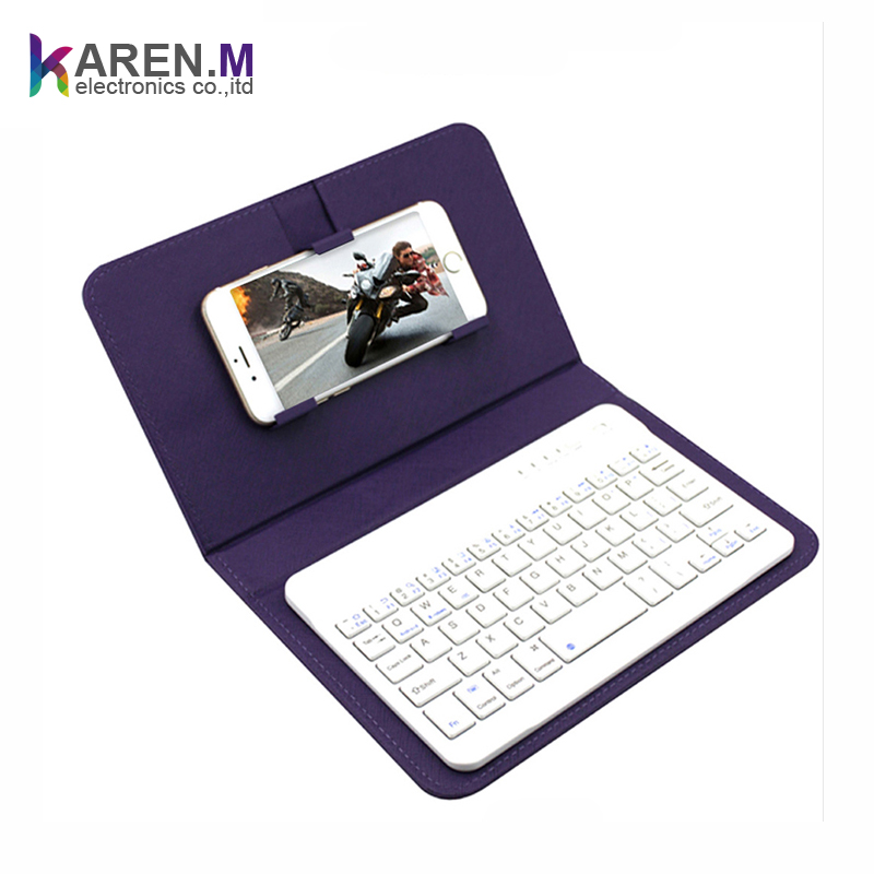 2017 Leather cover bluetooth keyboard for tablet /phones/ipad
