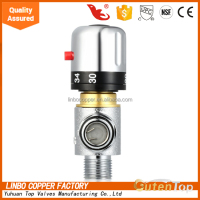 Three-Way Thermostatic Mixing Valve with Low-Lead Brass, 1/2-Inch NPT Male
