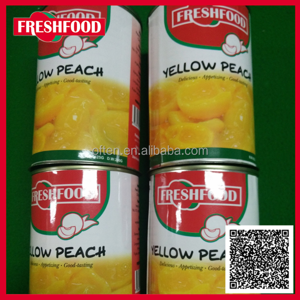 2016 New Crop Canned Yellow Peach Halves/Dices/Slices