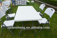 "60""x30"" outdoor restaurant dining table and chair"