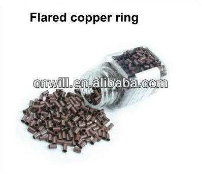 colored micro rings Flared copper ring hair beads hair extensions tools