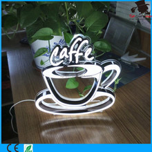 Mini Acrylic stander <strong>sign</strong> for the caffe shop