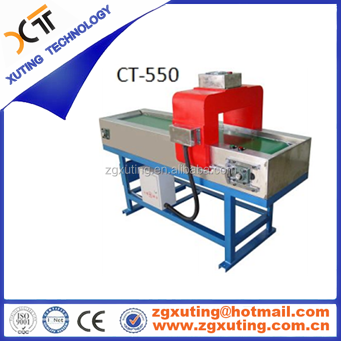 Customized industrial super powerful belt tunnel type frame demagnetizer ,Permanent demagnetization device CT-550