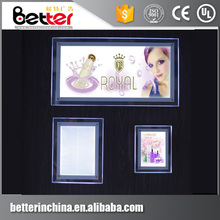 A3 A4 A5 A6 Crystal poster Frame wall-mounted Led Acrylic Light Box signs for advertising