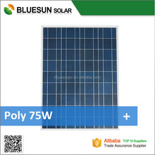 Bluesun good quality 75 watt photovoltaic solar panel poly 75w solar panel price