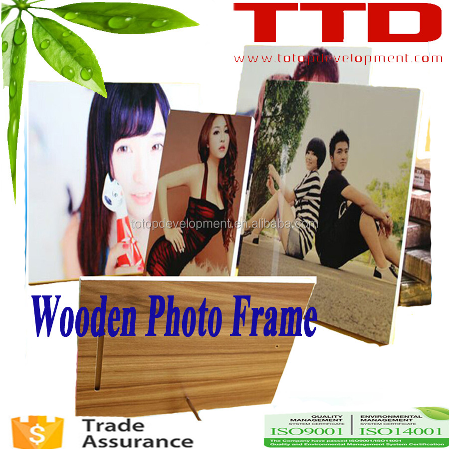 Custom Shapes & Sizes Blank Sublimation Wood Photo Frames ,Xmas gift printing ,HOT in USA