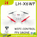 LH-X6WF New 2.4G 4axis wifi smart drone quadcopter with wifi camera video hd camera radio control kids toys