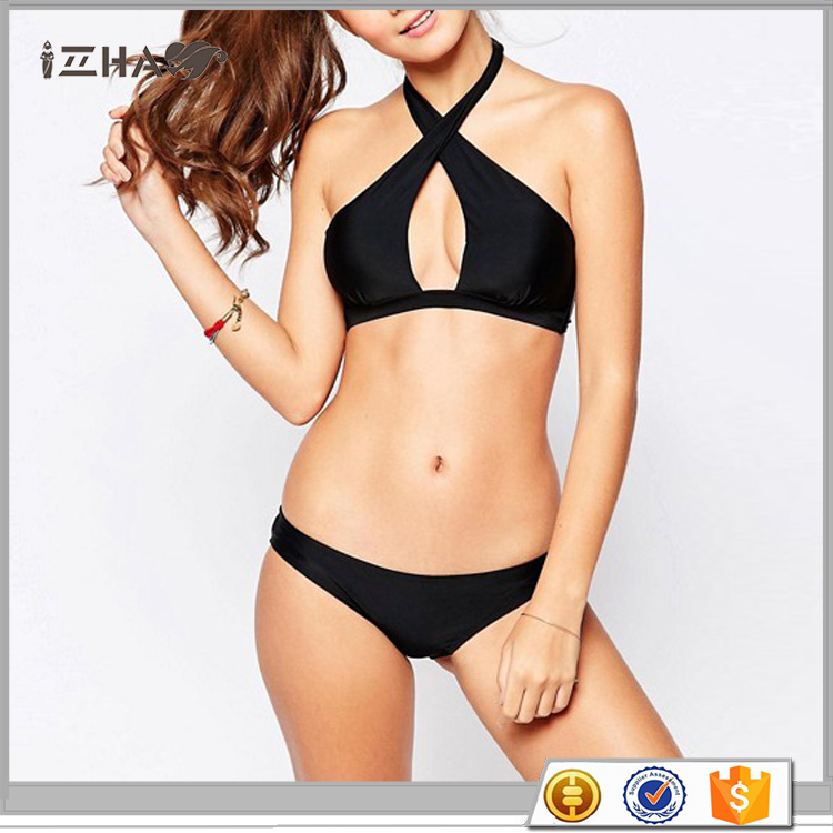Swimwear Beachwear Brazilian Bikini Manufacturer Lovely Girl Super Sexy 18 Teen New Model Sex xxx Black Sexy Sling Beach Bikini