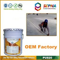 Under private label single component self-leveling PU820 polyurethane/pu concrete floor joint sealant/sealer/glue