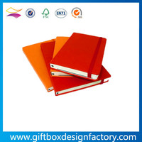 High quality hardcover note book with elastic ribbon