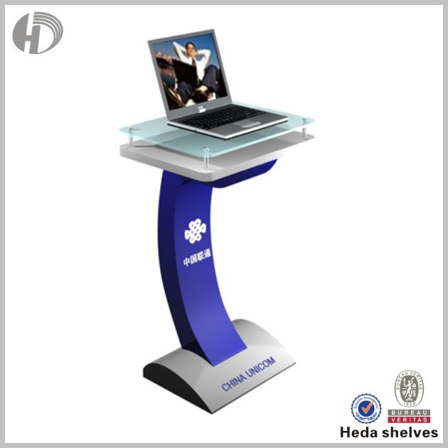 LED modern popular iPad laptop Kiosk Display Stand racking