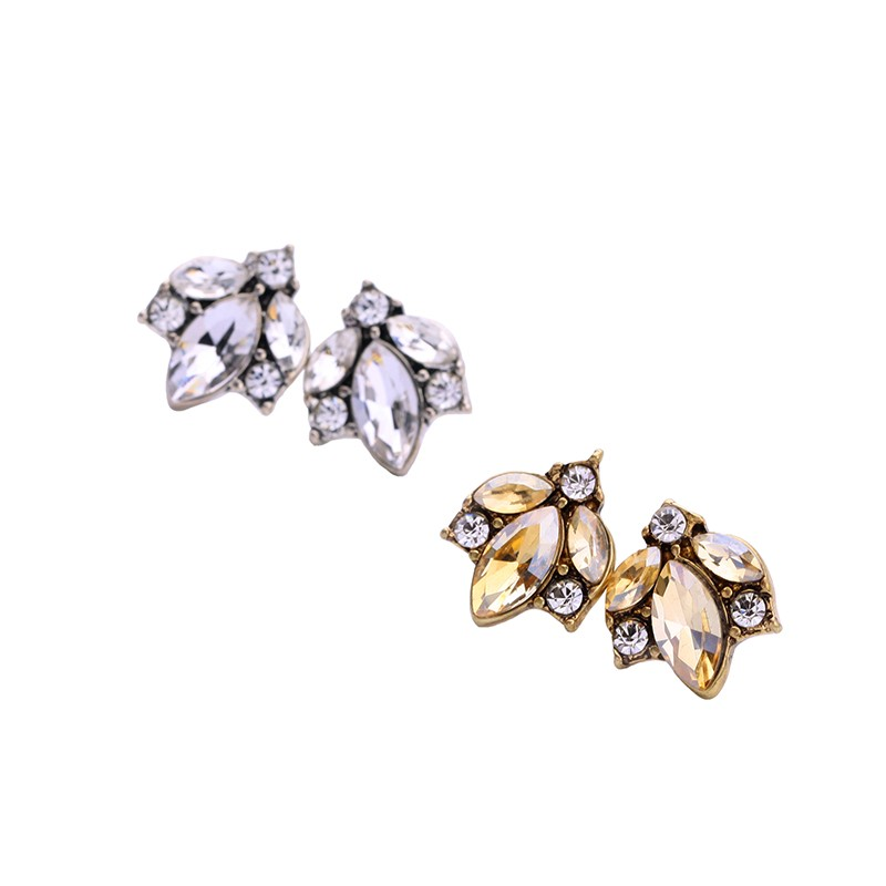 Fashion Silver Stud Earrings Wholesale, Stock Crystal Earrings Women