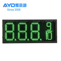 IP65 REGULAR Green Tempreture Digit 7 Segment Electronics Scoreboard Wireless Gas Station LED Price Sign LED Open Sign 20 Inch