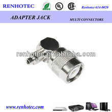 90 degree crimp connector TNC right angle for cable RG58/59/6 connector