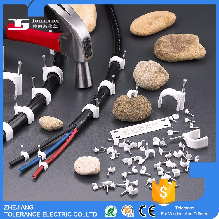 Quality-Assured High Quality Full Size Bengal Market R Shape Cable Clips